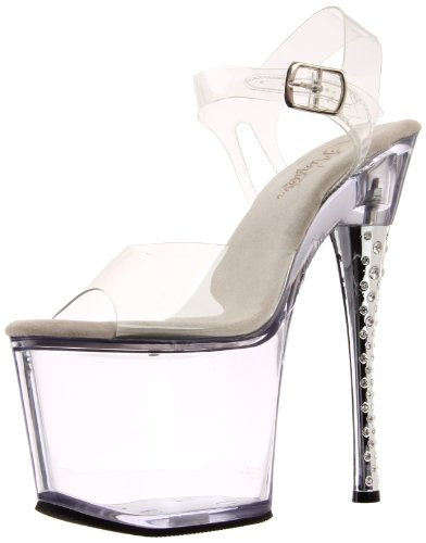 Pleaser DIAMOND-708, Sandali donna (Clear/Clear)