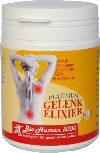 BioHuman3000 - Platinium Gelenkelixier Plus (Glucosamin, Chondroitin, MSM, Hyaluronsäure) - 180 Kapseln (Diabetiker Kapseln)