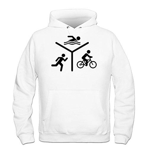 Shirtcity Triathlon Silhouette Logo Kapuzenpulli by