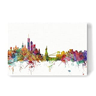 artboxONE Leinwand 60x40 cm Reise New York Watercolor von Michael Tompsett