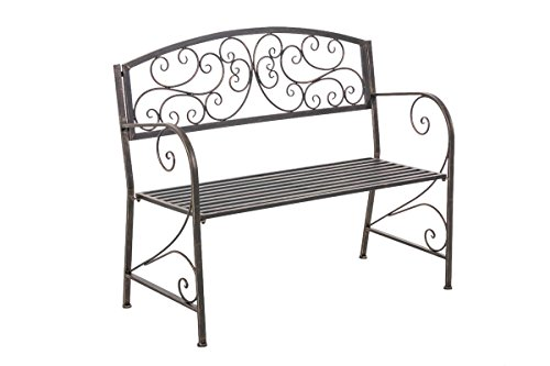 Panchina stile romantico Adelaide ferro 108cm ~