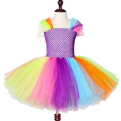 QWER Halloween-Kostüm-Baby-Einhorn-Regenbogen-Weihnachts Tutu-Kleid-Kleidung Kind-Kind-Prinzessin (Burlesque Baby Kostüm)