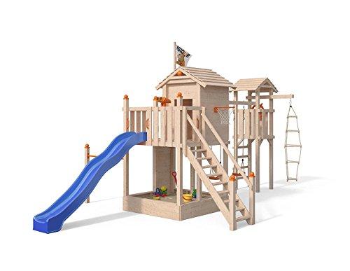 Xxl Klettergerüst 2 4m Kletterturm Spielturm Mit Kletternetz Reckstange Leiter : ▷ schaukel mit reckstange holz oktober kaufen test vergleich