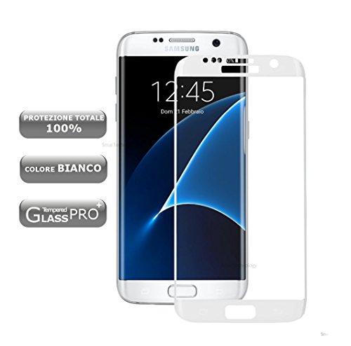 Gehärtetem Glas Displayschutzfolie für Samsung Galaxy S7Edge Schutz Insgesamt Display Touch Screen Weiß White