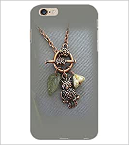 PrintDhaba Owl Pendant D-2384 Back Case Cover for APPLE IPHONE 6S (Multi-Coloured)