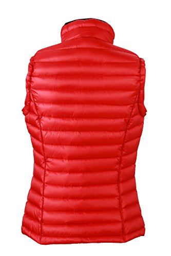 JAMES & NICHOLSON Daunenweste Ladies Quilted Down Vest - Blouson - Femme Rouge (Red/Black)