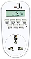 Count_On Polycarbonate Timer Switch Digital Programmable Countdown Smart Socket Plug Electronic Automatic Power Control System (White, CO-DTS-TB-TC)