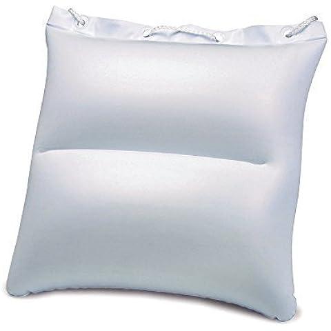 Borsa Cuscino da spiaggia gonfiabile - cuscino testa per spiaggia campeggio e viaggio - 32 x 32cm, plastica, bianco
