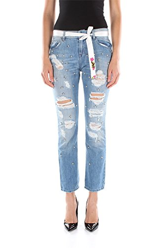 Jeans Twin-Set Donna Cotone Blu Denim S5JJ2S53700100 Blu 28