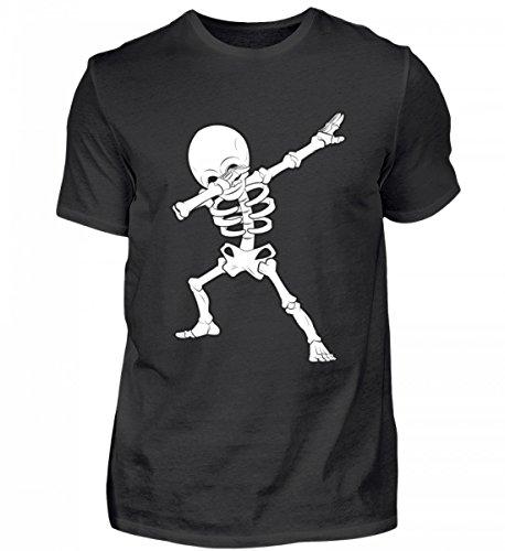 Hochwertiges Herren Shirt - Dabbing Skelett Hip-Hop Dab Tanzendes Gerippe Tanz Geschenk