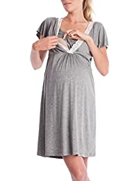 116f3a2bc Vestidos Premama Verano SHOBDW Moda 2019 Vestido de Maternidad de Fiesta  Fotografia Gris Encaje Manga Corta Enfermería Ropa…