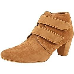 Exotique Women's Tan Casual Boot (EL0031BG-37)