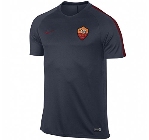 nike-roma-y-nk-dry-top-ss-sqd-maillot-noir-s-unisex-enfants