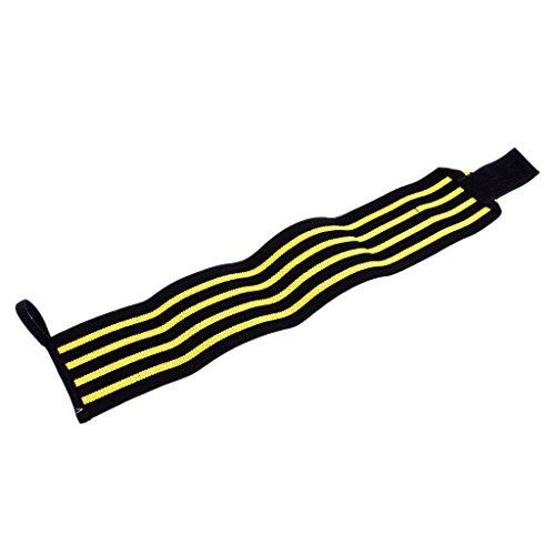 Homyl Handgelenkschutz Handgelenkbandage Elastische Bandage für Damen und Herren beim Sport, bietet gute handgelenk stützung - Schwarz Gelb, wie beschrieben (Links Schwarz Handgelenk Wrap)