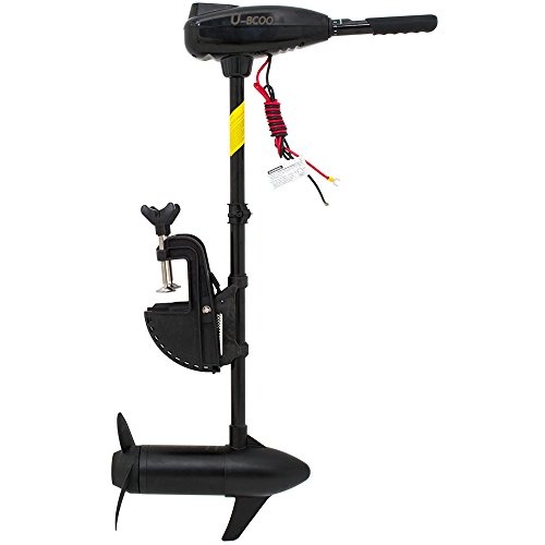 U-BCOO L-Series 60 lb Thrust Saltwater Transom Mounted Electric Trolling  Motor