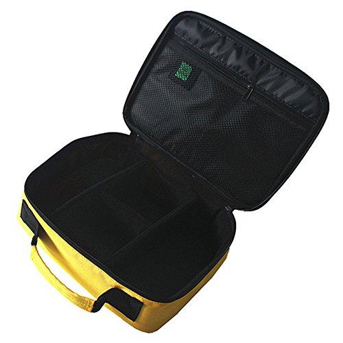 AOLVO Tragbare digitale Zubehör Gadget Geräte Organizer USB-Kabel Ladegerät Tote Schutzhülle Aufbewahrungstasche Travel Organizador gelb