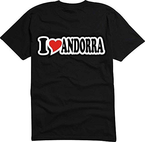 T-Shirt I Love Heart Herren I LOVE ANDORRA Schwarz