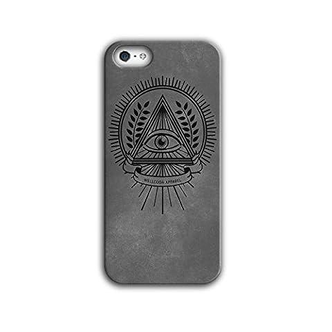 Illuminati Drucken Muster Geheimnis Leben iPhone 5 / 5S Hülle | Wellcoda