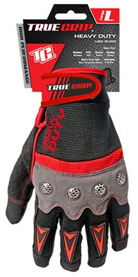 BIG TIME PRODUCTS LLC - High-Performance Work Gloves, Touchscreen Compatible, Red, Gray & Black, Large
