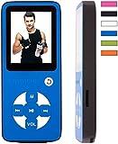 BERTRONIC MP3-Player Everest Royal - 8 GB - BLAU - 100 Stunden Audiowiedergabe, Lautsprecher - erweiterbar bis zu 128 GB