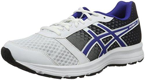 Asics Patriot 8, Scarpe da Corsa Uomo, Bianco (White/Asics Blue/Black), 39.5