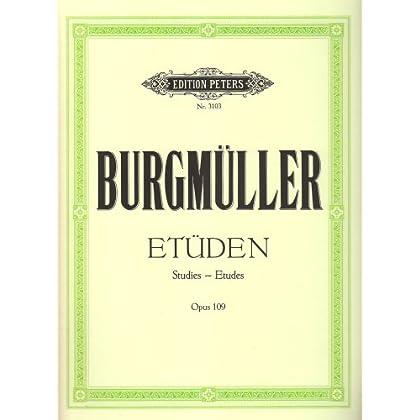 Burgmuller : études Opus 109