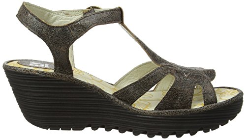 FLY London Damen Yini727fly Wedge Sandal Grau (slate 015)