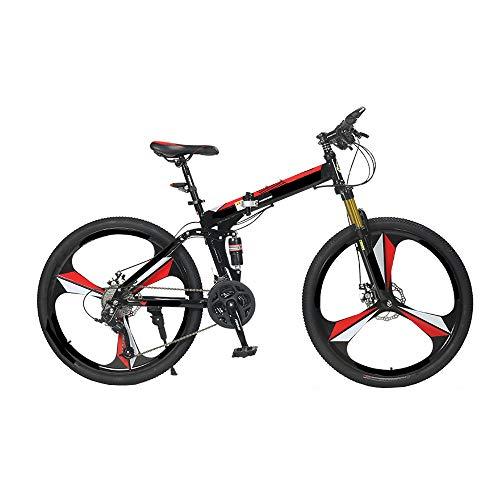 MH-LAMP Bikes Plegable, Bicicleta Adulto Hombre, MTB Freno Disco Doble, Bicicleta Montaña Adulto Doble...