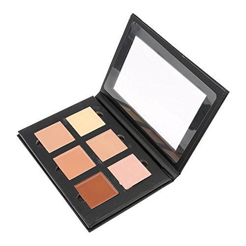 HuntGold 6 couleurs claire crème pour le visage contour kit correcteur palette bronzeur surligneur maquillage