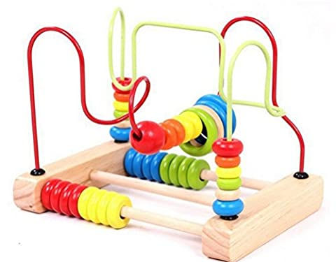 Bead Maze Toy - Chickwin Babies Toddlers Multicolor Wooden Puzzle