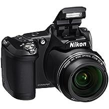 """Nikon COOLPIX L840 16MP 1/2.3"""" CMOS 4608 x 3456Pixeles - Cámara digital (Cámara puente, 1/2.3"""", CMOS, 4608 x 3456 Pixeles, 4608 x 3456, 3264 x 2448, 2272 x 1704, 1600 x 1200, 640 x 480, 4608 x 2592, 3456 x 3456, Lente), negro"""