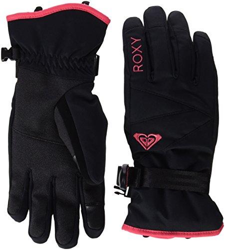 Roxy-Jetty-Guanti da sci, da donna, colore: nero, taglia: L (taglia del produttore: L)