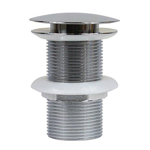 PopUp Ablaufventil Ablaufgarintur für Waschbecken Ohne Überlauf Abflussverschluss Bad Ventil Nr. 1