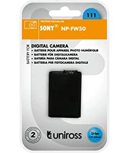 Uniross U0236297 Batterie pour appareil photo Sony NP-FW50 1080 mAh 7,2 V