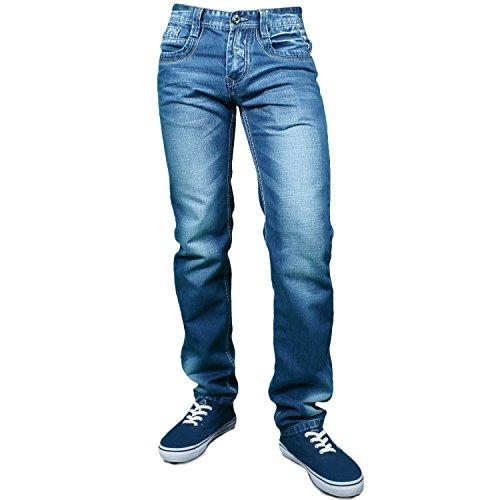 Jeans Herren Hose Jeanshose Blau Denim Blau