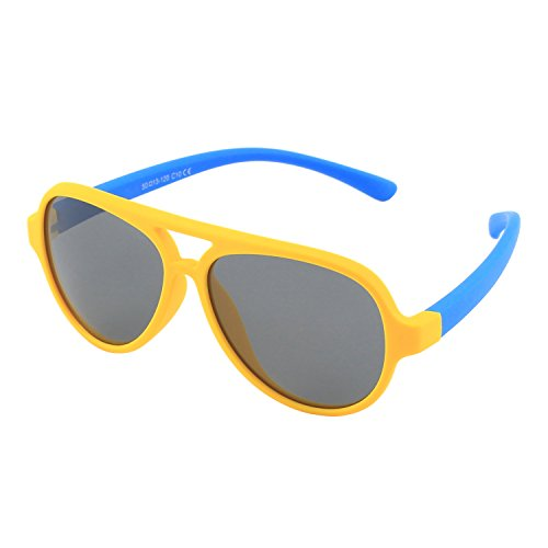 CGID' Gummi Flexible Kinder Polarisierte Fliegerbrille Pilotenbrille für Baby und Kinder im Alter von 3-6, K93