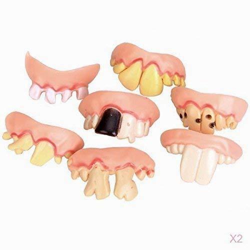 Hilai 10pcs hässliche Zähne Halloween Party Prop Kostüm zufälligen Typ