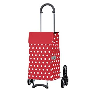 Andersen Shopping trolley Scala with bag Elfi red, Volume 43L, steel frame and Stair-climbing wheels