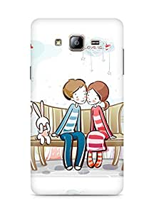 Amez designer printed 3d premium high quality back case cover for Samsung Galaxy ON5 (Sweet couple on bench)
