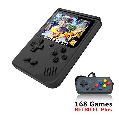Consoles De Jeux Portable, console de jeu Retro FC avec 1 Joystick PCS pour deux joueurs , console de jeu vidéo pour système de divertissement avec 3 pouces 168 jeux classiques (FC avec un joystick)