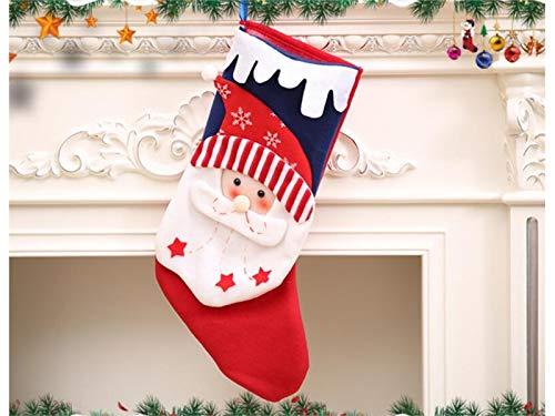 neeflocke Kappe Weihnachtsstrumpf Süßigkeitstasche Geschenktüte Weihnachtsbaum Dekoration (Santa Claus) Baby Kopfbedeckung (Größe : 46x19cm) ()