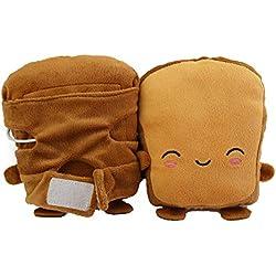coflower 1 Paire USB Chauffe-Main Gants chauffés Toast Gants Hiver sans Doigts Gants de noël Cadeau