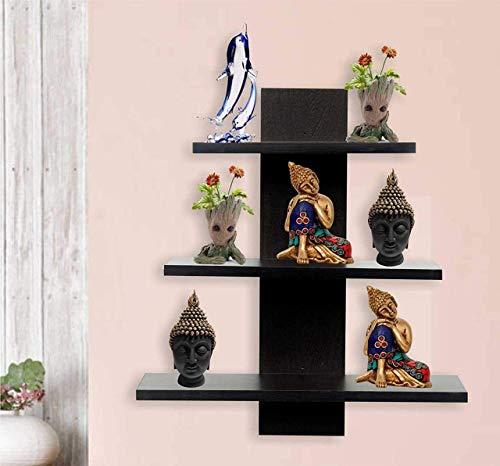 Amazing Shoppee Wall Shelves Shelf for Living Room Book Shelfs (3 Shelves) (Standard, Black)
