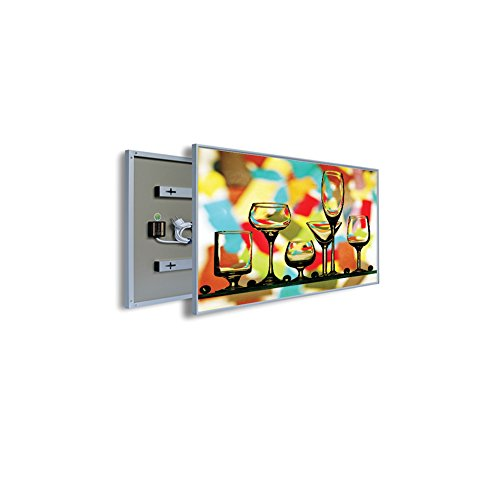 coldfig hting höchststufe 805 * Aluminium 1195 mm 960 W Argent Surface Imprimer fernes – Panel Chauffage électrique radiateur mural infrarouge