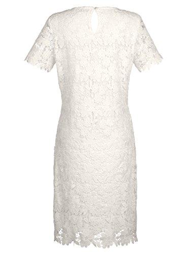 Damen Kleid aus edler Spitze by Laura Kent Weiß