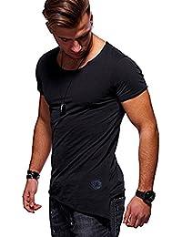 Camiseta de Manga Corta con Cuello en V para Hombre de Manga Corta con Cuello en