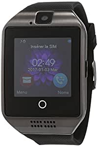 Smart Watch Bluetooth, Smartwatch Phone con Camera Touchscreen Sim Tf Card Impermeabile Phone Smart Orologio Intelligente Sportivi Tracker Pedometri Bracciale Supporta Per Android Iphone ios Samsung Huawei Sony Donne Uomo Bambini