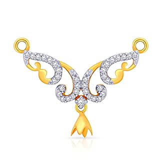 Malabar Gold and Diamonds 18 KT Yellow Gold and Diamond Mangalsutra for Women