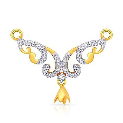 Malabar Gold and Diamonds 18 KT Yellow Gold and Diamond Mangalsutra for Women