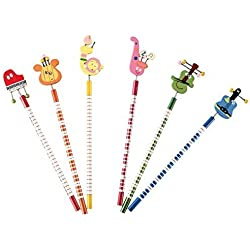 Lote de 30 Lápices De Madera Divertido - DISOK Ideal para regalos de graduaciones, regalos de cumpleaños, detalles comuniones Niños y Niñas. Lapiceros Baratos Infantiles